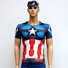 Alliance of the 2 T Shirts Short Sleeve High Elastic Fast Dry Tops Super Hero Shirts Water Proof Sport Riding Outdoor Tops