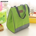 WUSWUX 2016 New Fashion Portable Insulated Nylon lunch Bag Thermal Food Picnic Bag for Women kids Men Cooler bag Lunch Box Tote