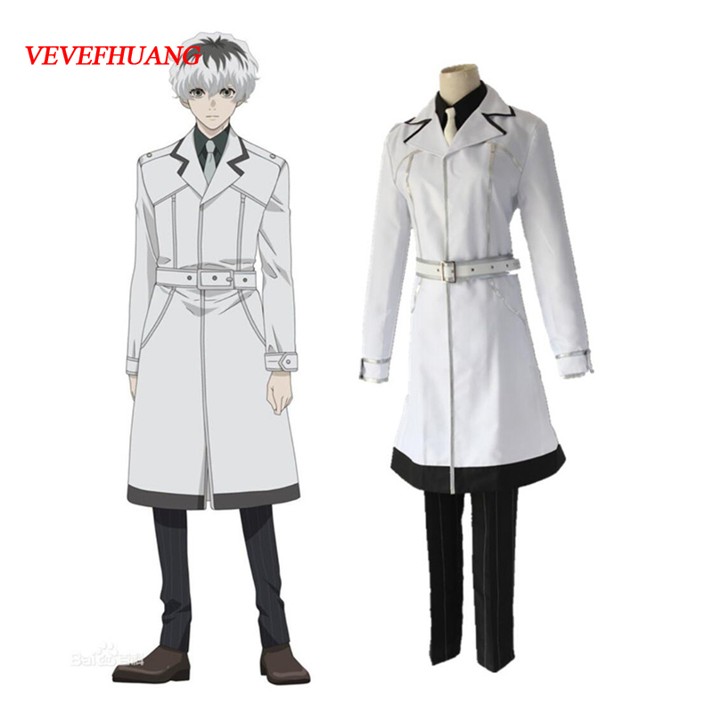 VEVEFUANG Sasaki Haise Cosplay Anime Tokyo Ghoul Costume blanc hommes femmes Anime Tokyo Ghoul Cosplay Costume Sasaki Haise ken Cos