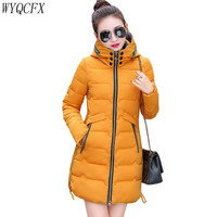 Plus Size 7XL Winter Jacket Women Long Down cotton Padded Slim Overcoat Female 2019 Fashiong Casual hooded Warm Parka Coat 345