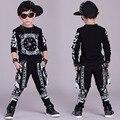 Grandes Esportes Dos Meninos Ternos Conjuntos de Roupas de Algodão Meninos Tracksuits Hip impressão Pop Adolescente Outfits Crianças Sportswear 4 6 8 10 12 14 anos