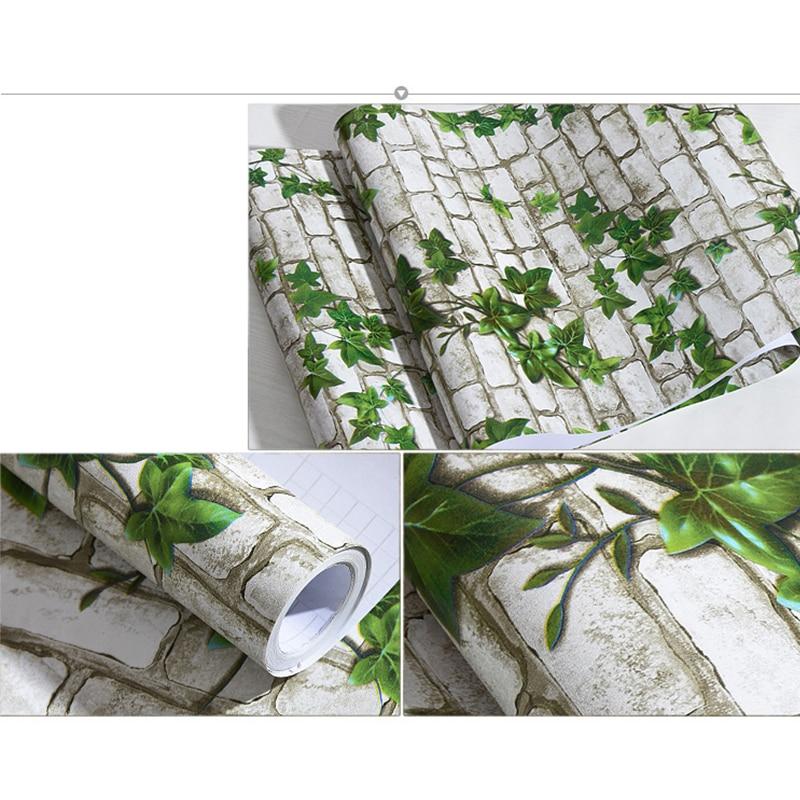 0.45x10 M Diri Perekat stiker dinding vinyl Batu Bata wallpaper Kamar - Dekorasi rumah - Foto 4