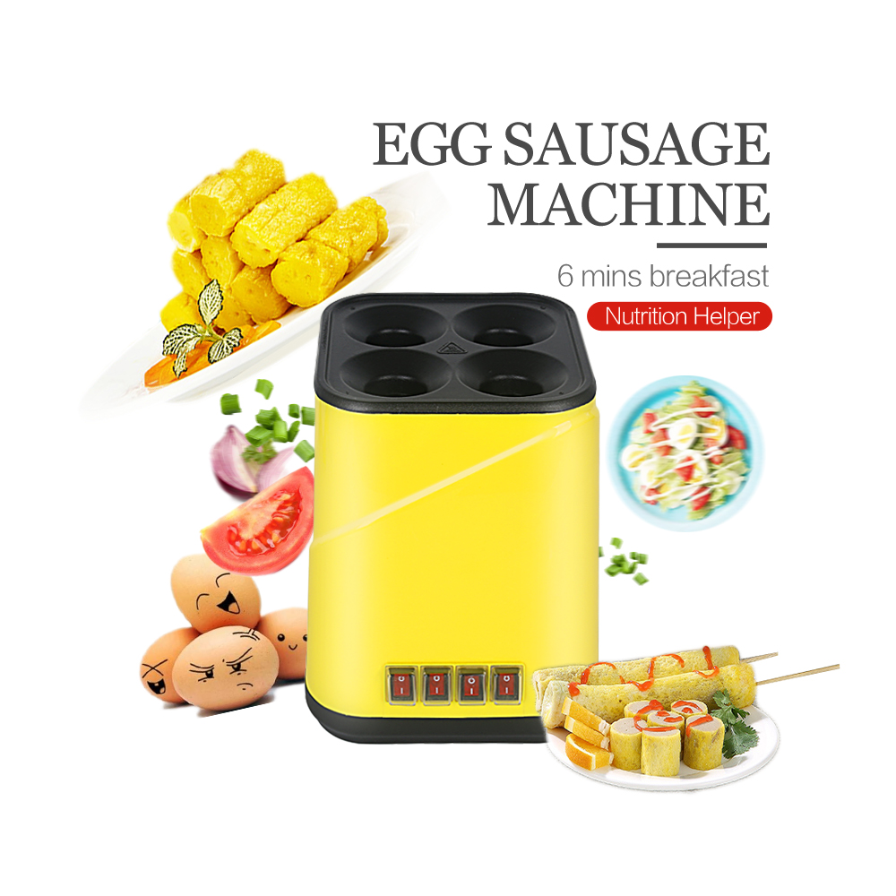 ITOP Nonstick house Breakfast Machine Electric Egg Roll Maker Sausage Machine 4 Holes Independent Control