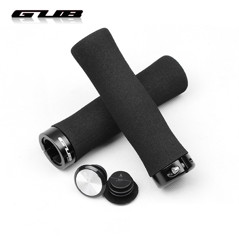 Mountain Bicycle Anti-skid Grips Sponge Silicone Soft MTB Bike Handlebar Grip Cover Band end Aluminum Gear Lock-on Cycling Parts