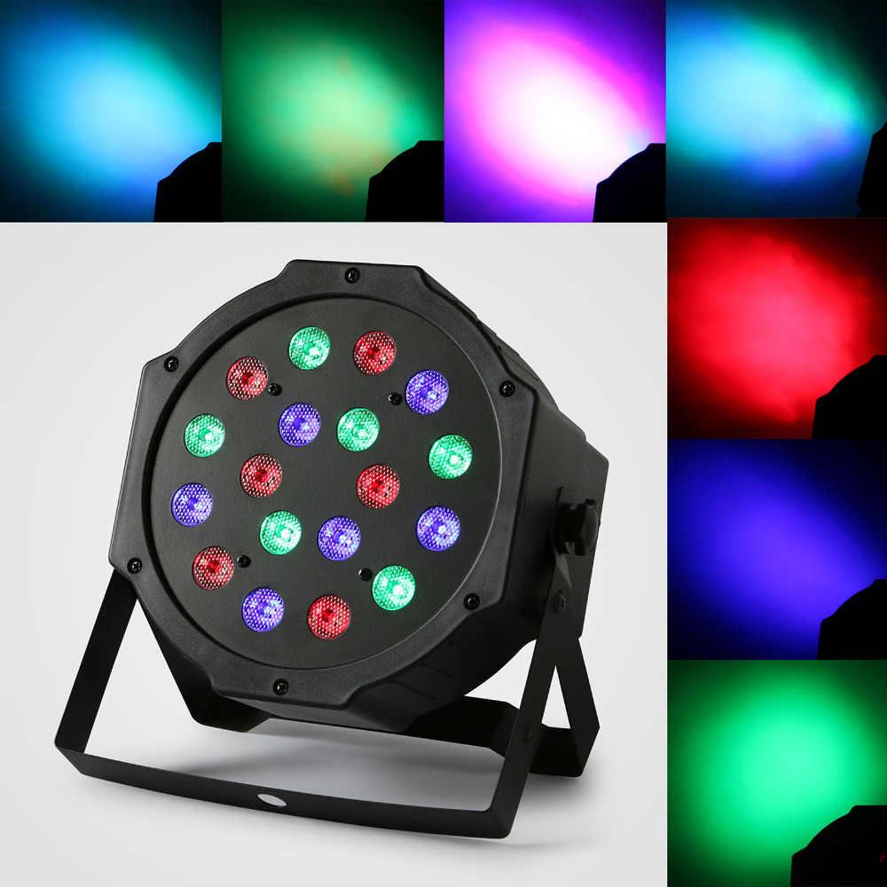8 шт. 18x3 Вт LED PAR64 54 Вт Тонкий Пар Может DMX плоским Пар света RGB Цвет Освещение проектор партии DJ Light