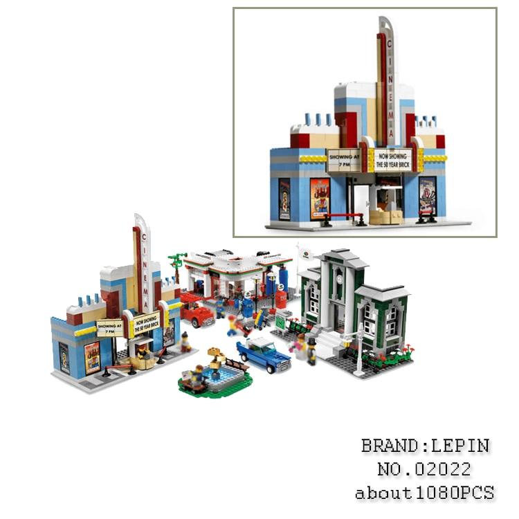 WAZ Compatible Legoe City Lepin 2017 02022 1080pcs City 50th Anniversary Town Figure building blocks Bricks toys for children decool 3117 city creator 3 in 1 vacation getaways model building blocks enlighten diy figure toys for children compatible legoe