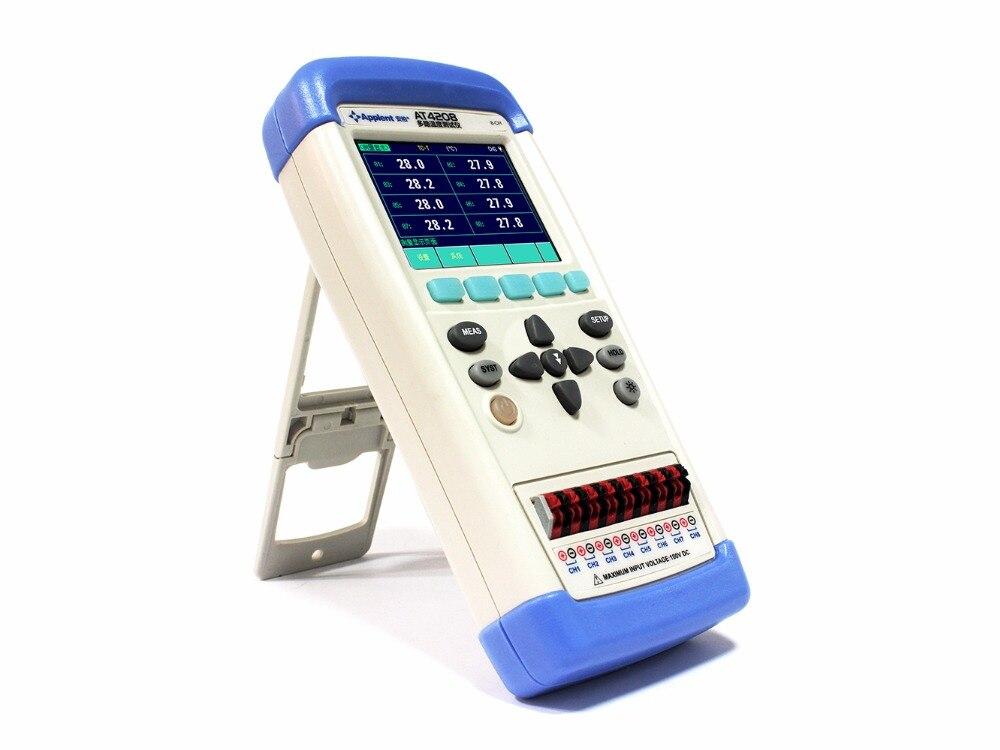 8 канальный ручной Температура термометр измерительное устройство для термопары самописец J/K/T/E/S/N/B регулятор температуры с термопарным AT4208