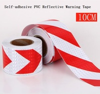 10CM*45.7M Road Traffic Construction Site Corridor Factory Workshop Floor Safety Warning Self adhesive Twill Reflective Tape