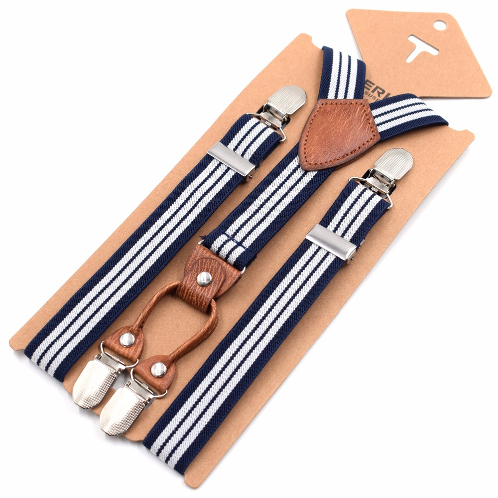 Men's Accessories 1 Width Kinder Hosentrager Elastisch Kids Suspenders 4 Strong Clips Straps Y-form Slinger Length Adjustable Giarrettiere Belt