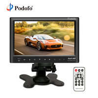 Podofo 7 Car Rear View Monitor Bluetooth Slim Dashboard Screen Car Video Audio FM Transmitter MP5 USB Car Backup Reversing