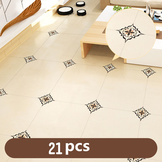 1Set(21pcs)Self-adhesive Bedroom Floor Tile Diagonal Sticker Waterproof and Mildew Beauty Seam Stickers Wall Gap Decoration 2