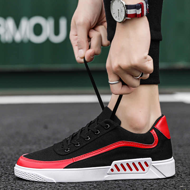 Men Shoes 2019 New Spring Black Shoes Men Casual Shoes Male Sneakers Cool Street Brand Canvas Shoes for Men Footwear
