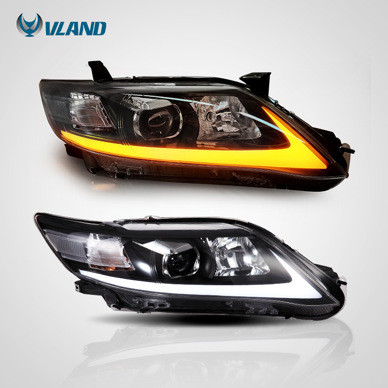 Vland Car Styling Headlight For Camry V40 Led Head Light 2009 2010 2011 Head Lamp One Year Warranty Car Light Assembly for volkswagen polo mk5 vento cross polo led head lamp headlights 2010 2014 year r8 style sn