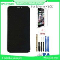 Мобильный телефон ЖК дисплей для Iphone X сенсорный экран Запчасти Авто 5,8 дюймов Высокое качество Черный 10 шт./лот