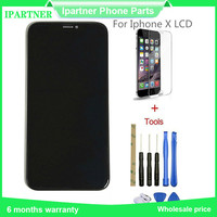 Mobile Phone LCD For Iphone X LCD Touch Screen Replacement Parts 5.8 Inch High Quality Black 10pcs/lot