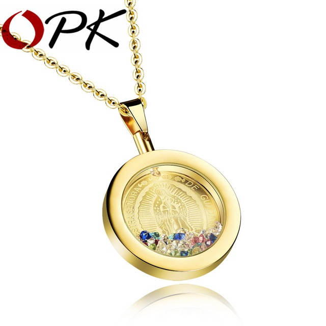 Virgin Mary Pendant Necklaces For Unisex Fashion Stainless Steel Colorful Sexy Collarbone Necklace Vintage Jewelry GX1062