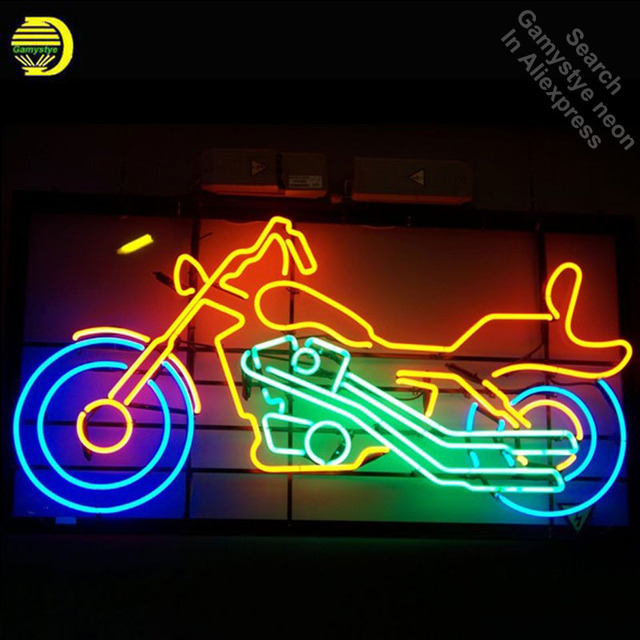 Neon Sign for Live to Ride Motorcycle neon bulb Sign neon lights Sign glass Tube Handcraft Iconic Sign illuminated neon online