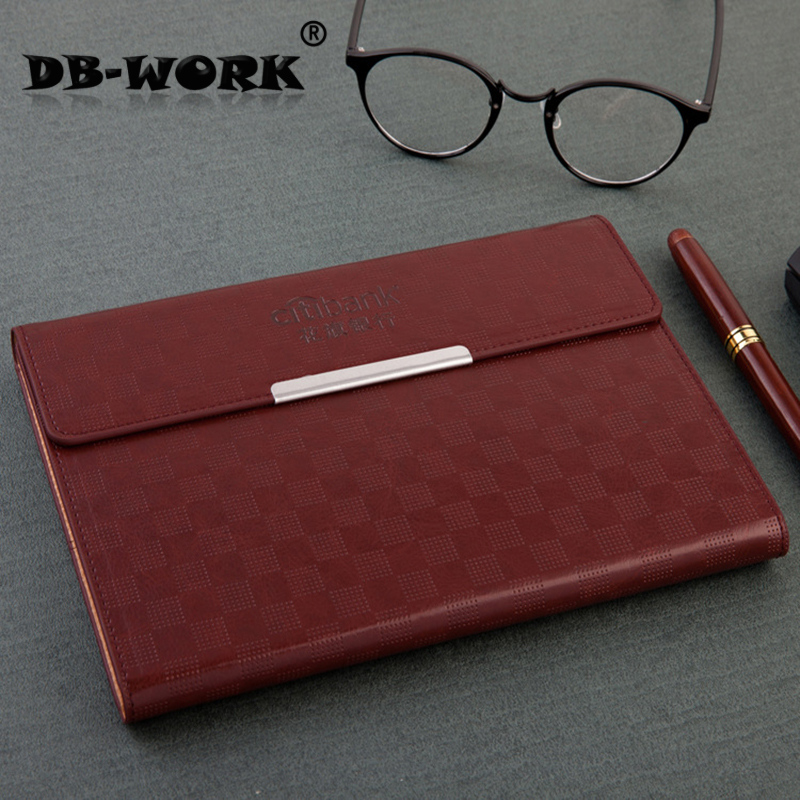 Professional notebook factory outlet with a penholder and magnetic clasp paperback discoloration pu business notepad customizati