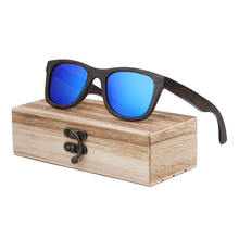 BerWer brown Bamboo Sunglasses for Men Wood Sun Glasses Pola