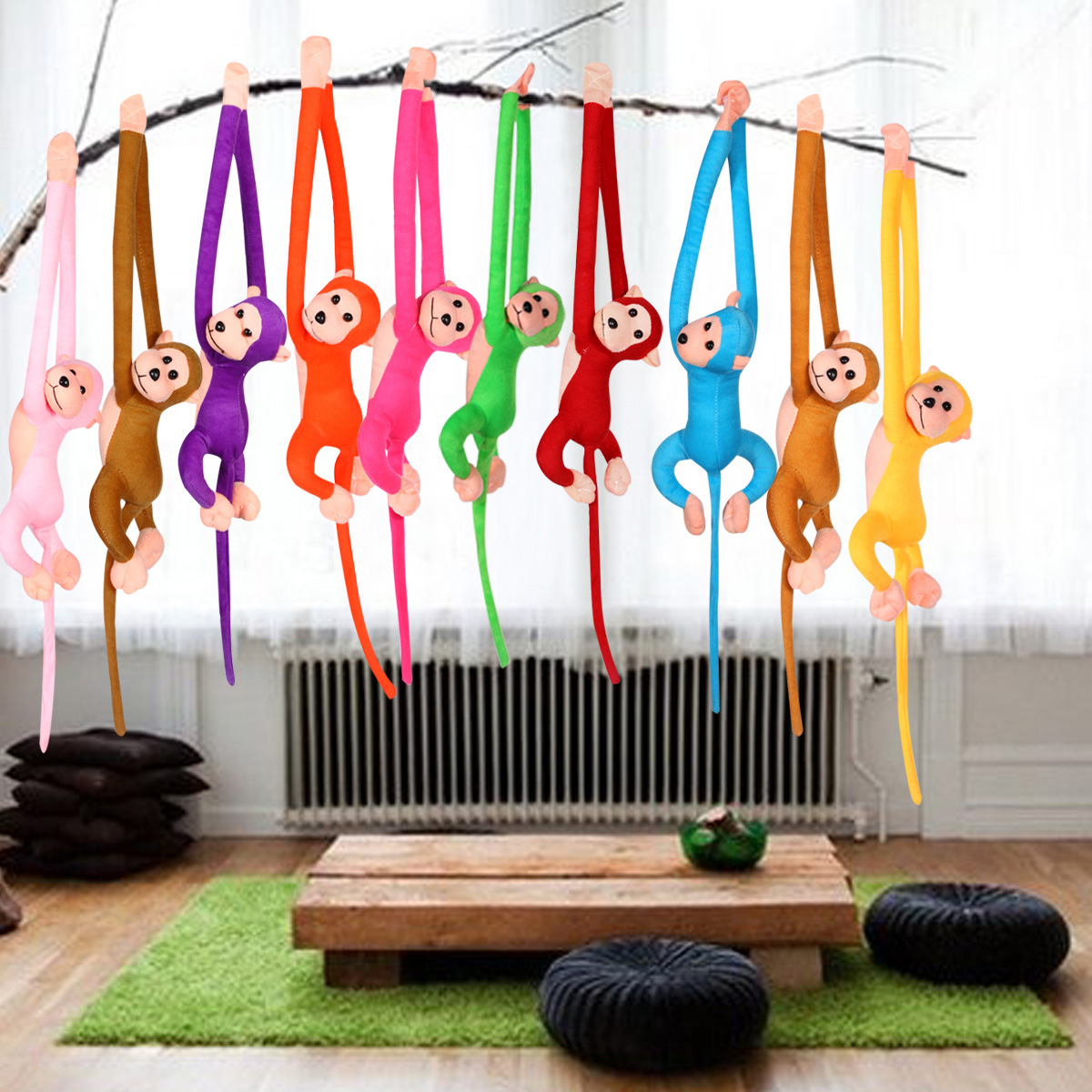 70CM Sound Hanging Monkey Long Arm Plush Baby Toys Stuffed Animal Doll Kids Gift Home Decoration Stuffed Animal Toy