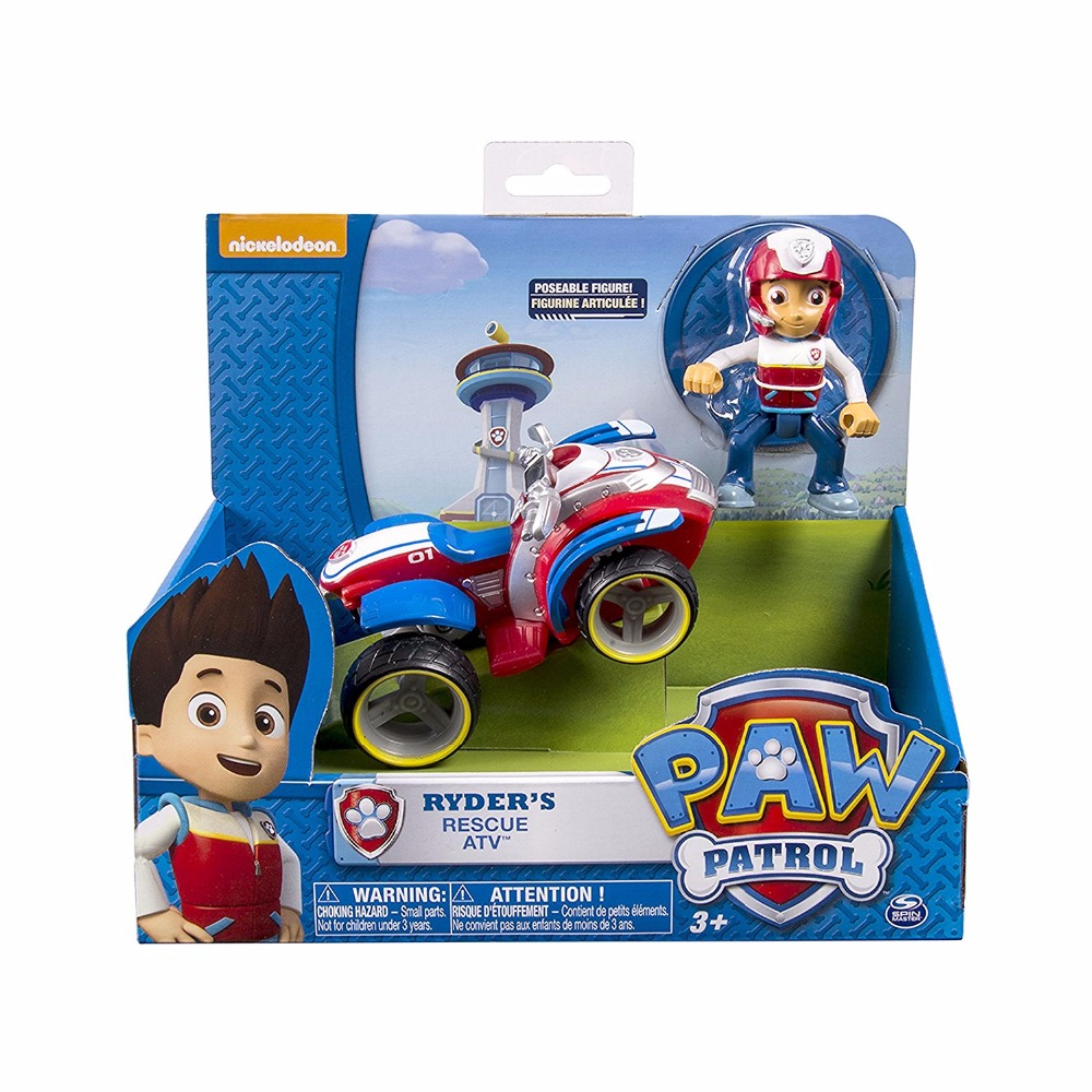 Genuine Paw Patrol Ryder 39 s Rescue ATV Vehicle and Figure figure toy Puppy Dog Patrol Car patrulla Patrulla Kids Toy original box in Action amp Toy Figures from Toys amp Hobbies