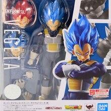 Tronzo original bandai tamashii nações dargon bola super vegeta shf ssj azul vermelho pvc figura de ação super saiyan deus modelo brinquedos