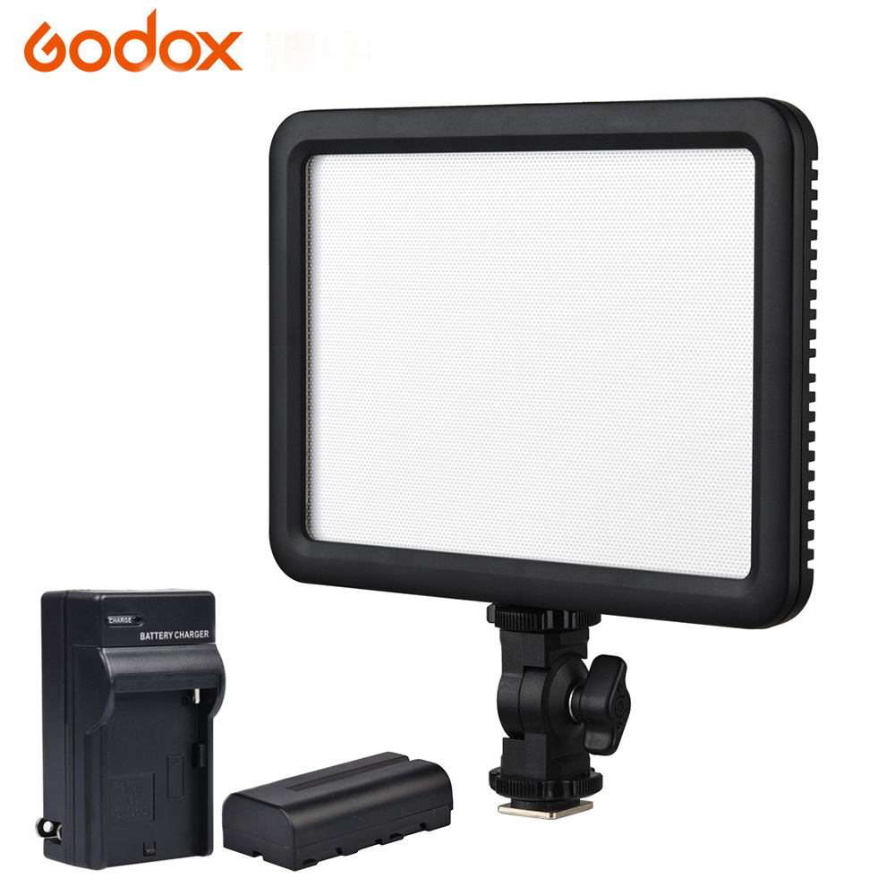 лучшая цена GODOX Ultra Slim Led Video Light LED P120C Studio Continuous LED Video Light Lamp with Panel For Camera DV Camcorder 3300K~5600K