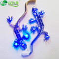Universal The New Solar Gecko King Warning Ligh High Hright  LED Lamp Car Sticker 3D Stickers LDE Decorative Lamp AJ