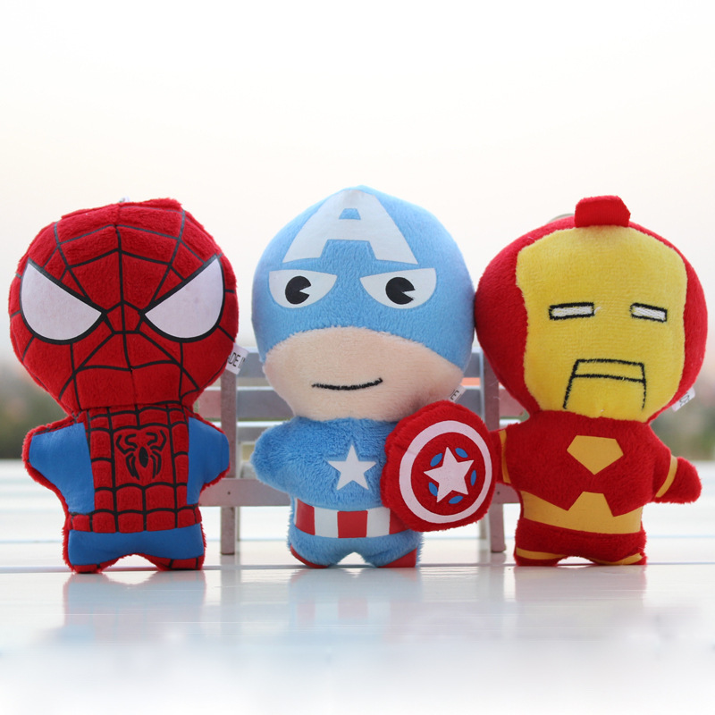 3pcs/lot Selling stuffed the avengers alliance children gifts toys phone key pendant + free shipping
