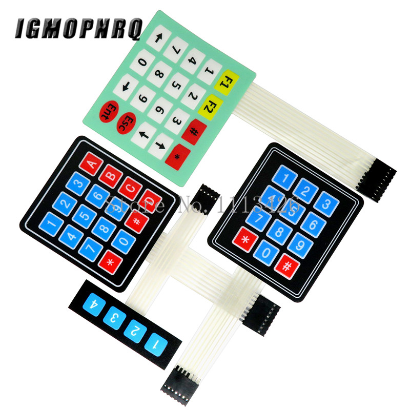 4 <font><b>12</b></font> 16 20 Key 1*4 4*3 4*4 4*<font><b>5</b></font> Membrane Switch Keypad 1x4 3x4 4x4 4x5 Matrix Array Matrix keyboard for arduino smart car image