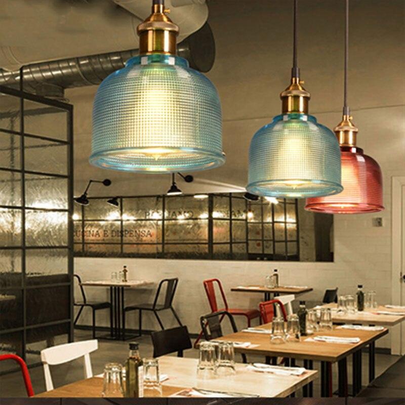 Glass Pendant Light Nordic Pendant Lamp Modern Pendant lamp brass Creative minimalist E27 Transparent Lampshade For