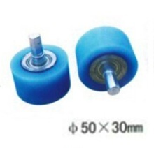 4PCS/LOT M10-50x30mm   Wrapping machine silicon rubber wheels Flat wheel silicon rubber belt bearing