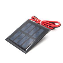 1pc x 2V 100mA with 30cm extend wire Solar Panel Polycrystalline Silicon DIY Battery Charger Small Mini Solar Cell cable toy