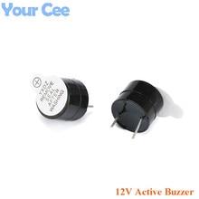 100 pcs 12 V Active Buzzer Alarm ลำโพง Sounder แม่เหล็กไฟฟ้า SOT