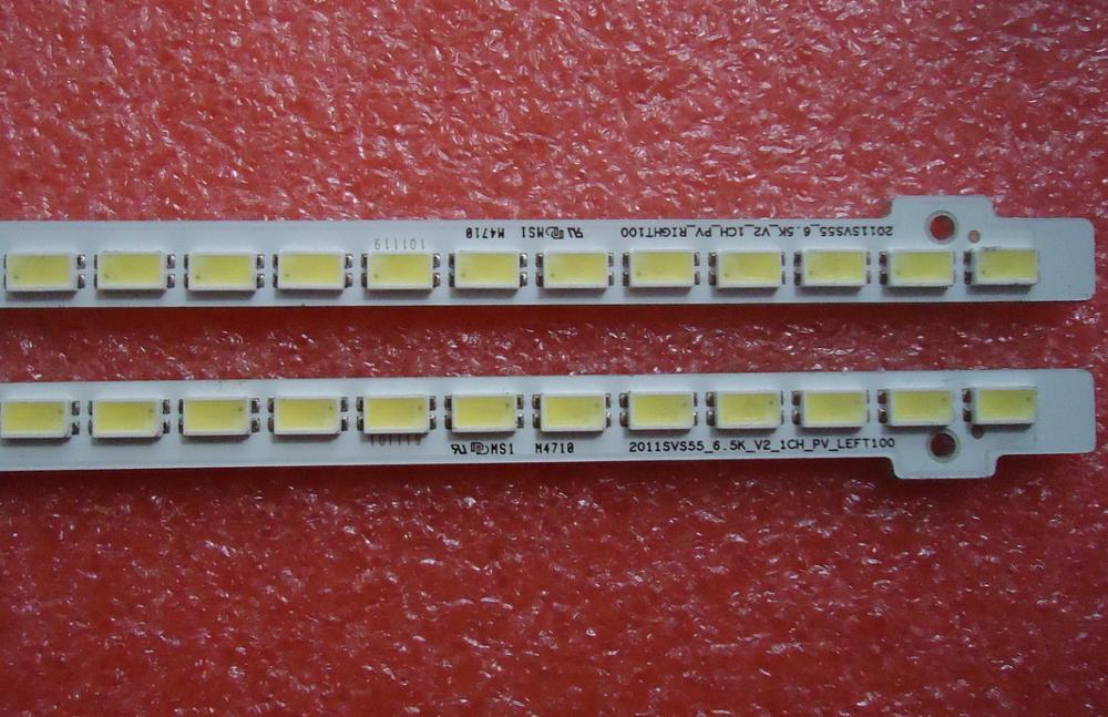New 2 PCS/let 100LED 68CM LED Strip 2011SVS55 FHD-5K6K Right Left For UA55D6600WJ LTJ550HW01 LTJ550HW03-H BN64-01664A
