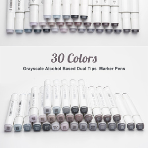 Image 5 - TOUCHNEW 30 Colors Gray scale Marker Pens Dual Tip Alcohol based Markers Grey Colors Set For Sketching Shading Outlining Design