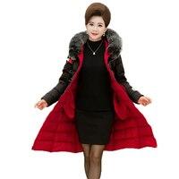 WAEOLSA Winter Frau Fell Kapuze Puffer Jacket Womens Lange Gepolsterte mantel Dame Haube Wadded Mäntel 2 Way Tragen Parkas Mandeau Femme