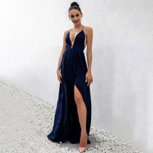 2018 New Fashion Sling Bandage Maxi Long Dress Women's Robe Long femme vestido de festa elbise