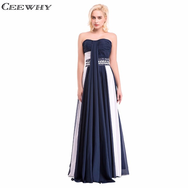 Sweetheart Mix Color Chiffon Beading Strapless A-Line Women Formal Gowns  Bridesmaid Dresses Floor-Length Wedding Party Dresses 933cb9d0785c