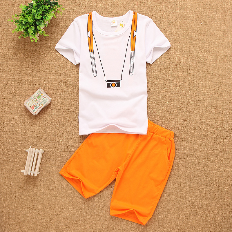купить Wholesale Boys Clothing Set Fashion Short Sleeve O-neck Kids Clothes Boys Clothing For Summer 2018 New по цене 2718.54 рублей