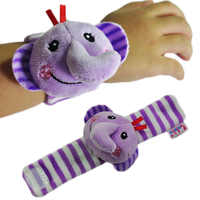 NEW Cartoon Baby Rattle Toys Garden Bug Wrist Rattle and Foot Socks Animal Cute Cartoon Baby Socks Rattle  Baby Rattle Toys