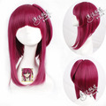 Free Shiping wine red MAGI short hair straight synthetic cosplay wig