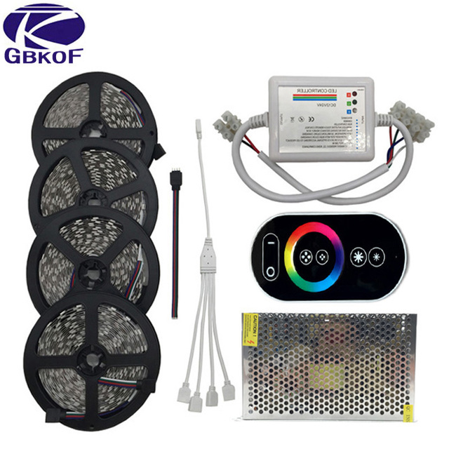 GBKOF 20M 15M 10M RGB Led Strip Lights 5050 Fita De Led Tape DC12V SMD  60Leds Gallery