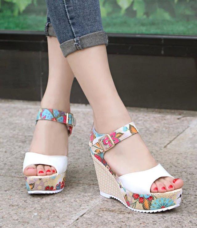 HTB1duZLaAKWBuNjy1zjq6AOypXaK 2019 Women Sandals Summer Platform Wedges Casual Shoes Woman Floral Super High Heels Open Toe Slippers Sandalias Zapatos Mujer