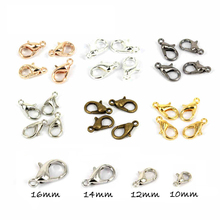 Small Package 10pcs/lot 10,12,14,16mm lobster Parrot Clasps 6colors Choose . Fit Link Chain Necklace(China)