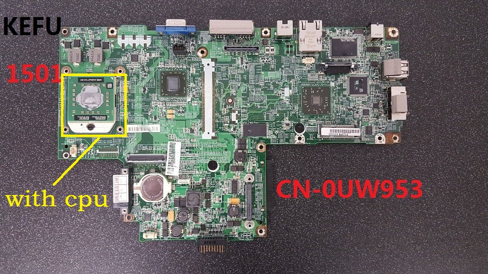 KEFU For Dell FOR Inspiron 1501 Laptop Motherboard CN 0UW953 0UW953 DDR2 all functions tested