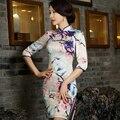 Chinese Women's Satin Cheongsam Qipao Cotton Silk Short Dress S M L XL XXL China Oriental Dresses Traditional Chinese cheongsams