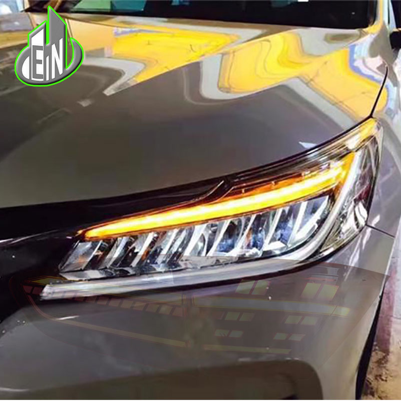 Car Styling Head Lamp For Honda Accord 10th Headlights 2016 2017 Led High Beam Low With Yellow Turning Signal Bar