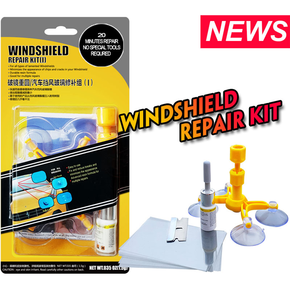 Windshield Repair Kits DIY Car Window Repair Tools Glass Scratch Windscreen Crack Restore Window Screen Polishing Car-styling