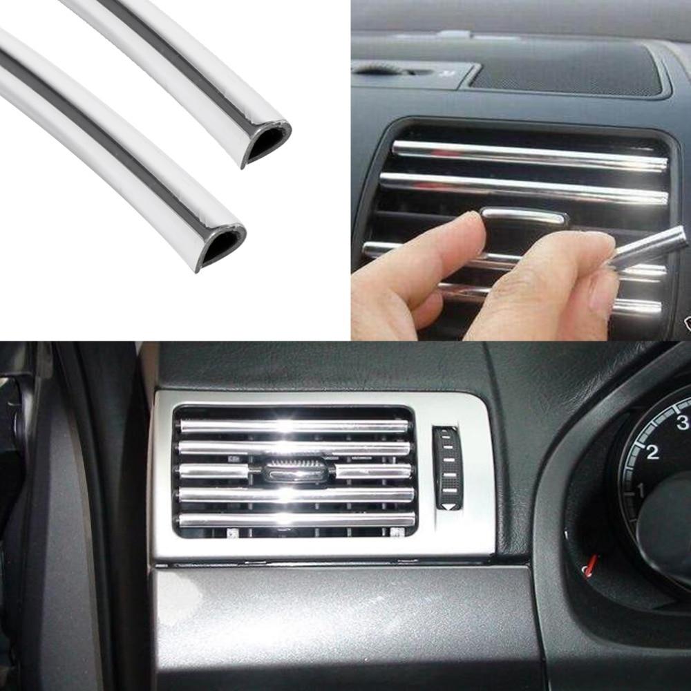 Car Interior Door Grille Molding Trim Flexible Decoration Styling Strip 4M